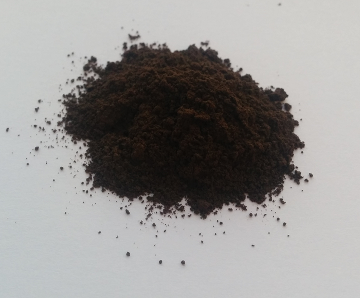 "A pile of lignin powder - the ""concrete of plant cells""."