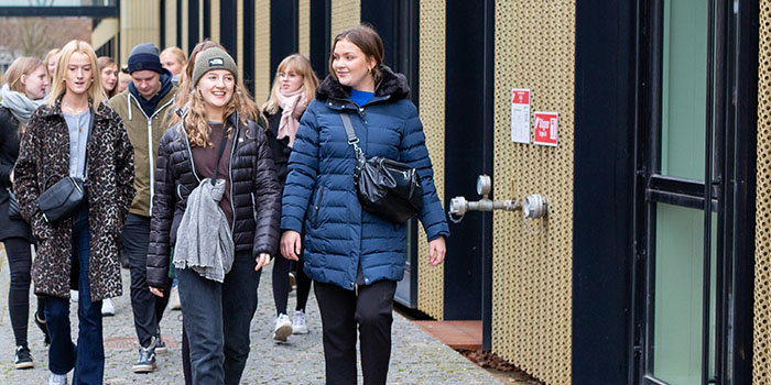 Science students from Thisted High School visited the DTU campus in Lyngby. (Photo: Christian Ove Carlsson)