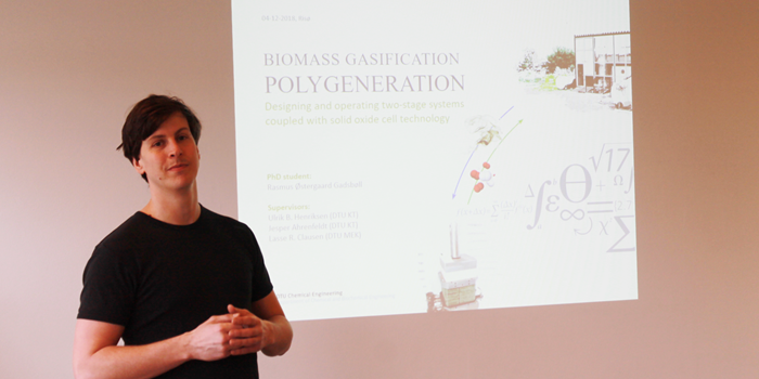 Rasmus at his PhD defense
